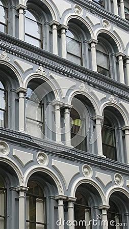 Stone building facade