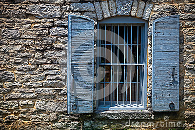 Stone building window