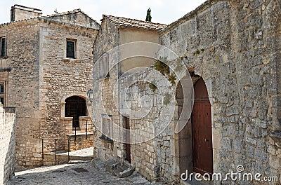 Stone buildings in Baux de Provence
