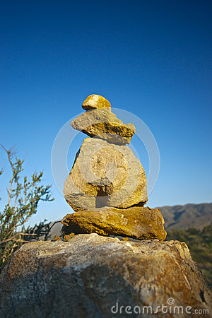 Free Stone Cairn For Hikers Royalty Free Stock Photo - 29355695