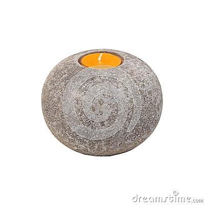 Stone candlestick