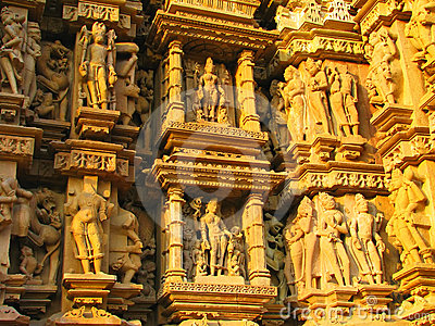 Stone carved erotic sculptures in Khajuraho