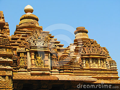 Stone carved temple with erotic sculptures