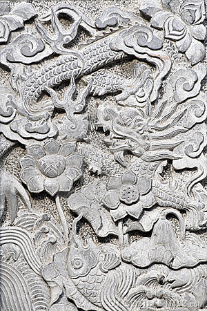 Free Stone Carving On The Wall. Royalty Free Stock Photos - 5241318