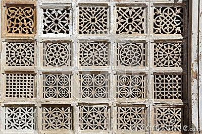 Stone carving at  Sarkhej Roja, Ahmedabad, India