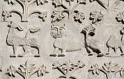 Stone carving. St Demetrius Cathedral (1193-1197)