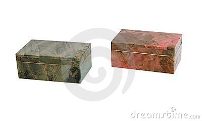 Stone caskets isolated