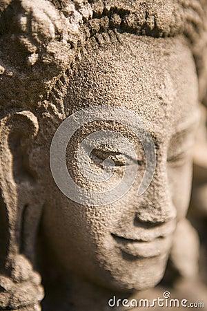 Stone caving in Cambodia.