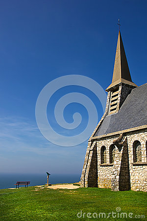 Stone chapel on the cliffs