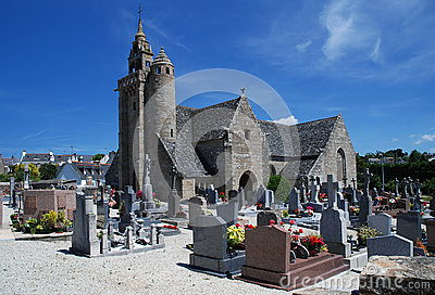 Stone church in Brittany