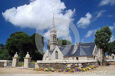 Stone church in Brittany