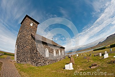 Stone church in Iceland