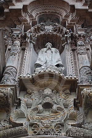 Stone church statue