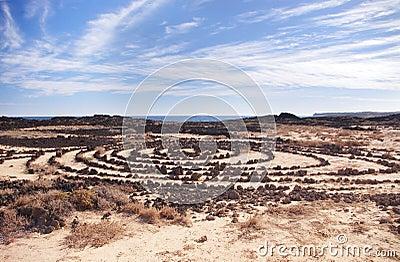 Stone circles in Lanzarote