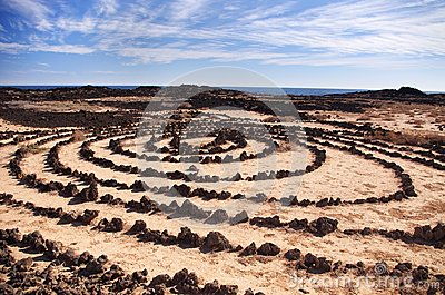 Stone circles in Lanzarote