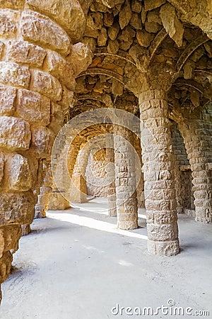 Stone colonnade