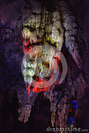 Stone column in YuHua cave, Fujian, South of China