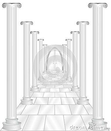 Stone Columns with Door