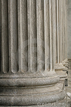 Stone columns from a judicial law building