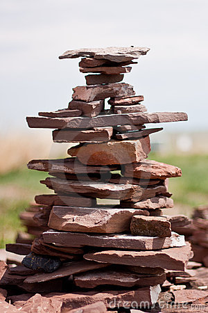 Stone construction Stock Photo