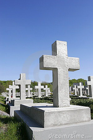 Free Stone Crosses On Cemetery Royalty Free Stock Image - 2384716