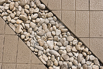 Stone decorate in walk way