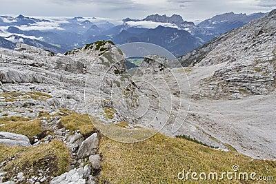 Stone desert in the austrian alps, Europe