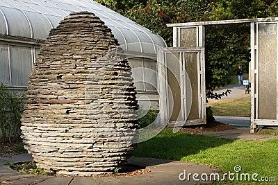 Stone Egg Sculpture and Doorway