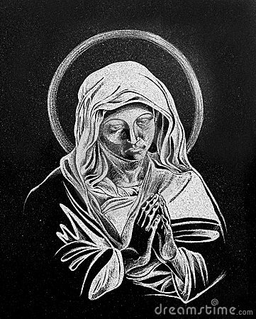 Free Stone Engraving Of Virgin Mary Stock Photo - 16178230