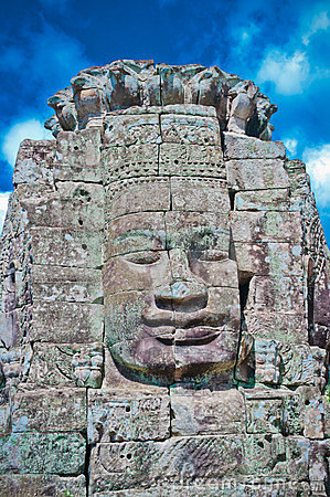 Stone face, Bayon Temple - Angkor Area