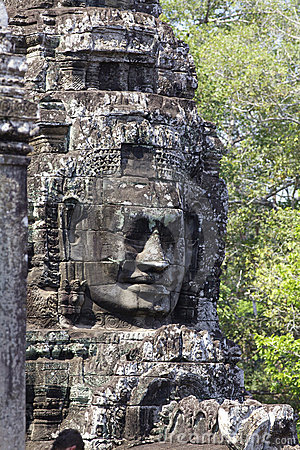 Stone Face Carvings Bayon Temple