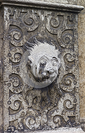 Free Stone Face Sculpture In The Old City In Solothurn Royalty Free Stock Photos - 66132868