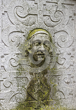Free Stone Face Wall Sculpture In The Old City In Solothurn Royalty Free Stock Images - 66132879