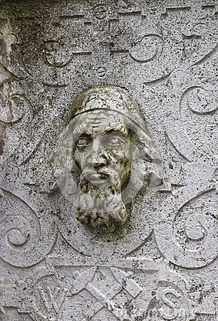 Free Stone Face Wall Sculpture In The Old Town In Solothurn Stock Photos - 66132893
