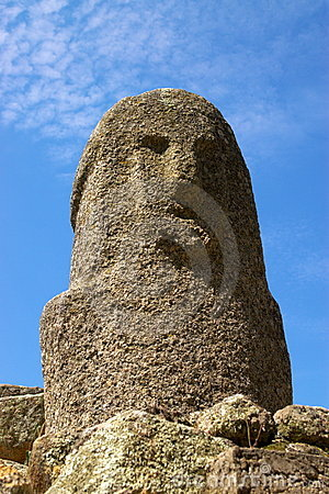 Stone figure of ancient civilization