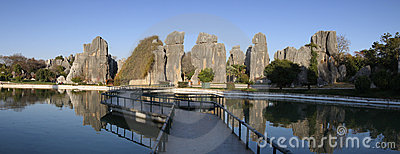 Stone forest shilin yunnan province china