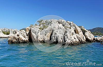 Stone formation near Kekova island