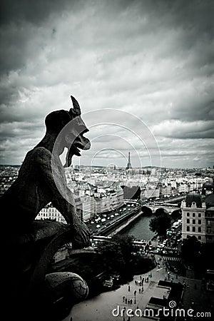 Free Stone Gargoyles Of Notre Dame Royalty Free Stock Images - 29432329