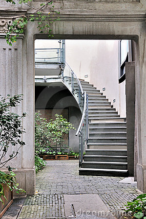 Stone gate and stair