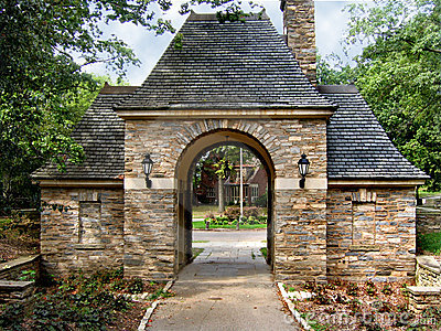 Stone gatehouse