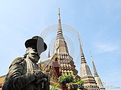 Stone Giant statue at Wat Pho Bangkok, Thailand