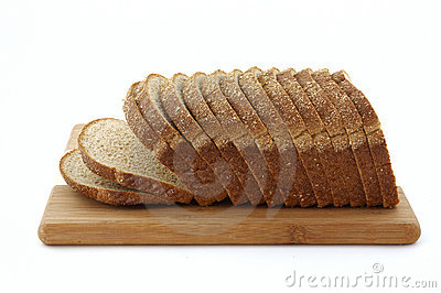 Stone ground whole wheat bread loaf