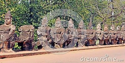 Stone Guard Statues