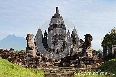 The Stone Guardian of Candi Sewu