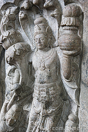 Stone Guardian at Temple of Tooth, Sri Lanka