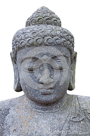 Stone head of Buddha.