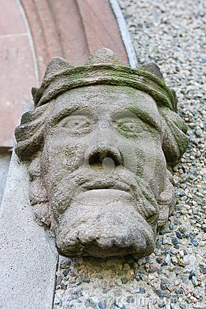 Stone head of a king