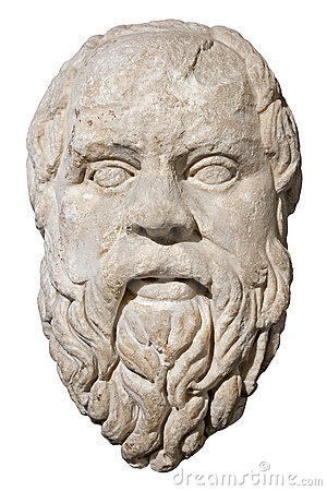 Free Stone Head Of The Greek Philosopher Socrates Royalty Free Stock Images - 12218659