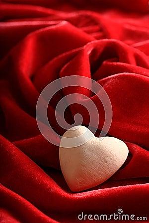 Stone heart on velvet