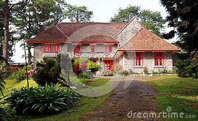 Stone house and garden